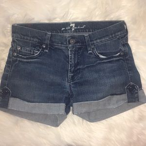 7 For All Mankind folded jean shorts